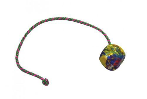 Balónek - kostka, šňůrka 50 cm, průměr 6 cm