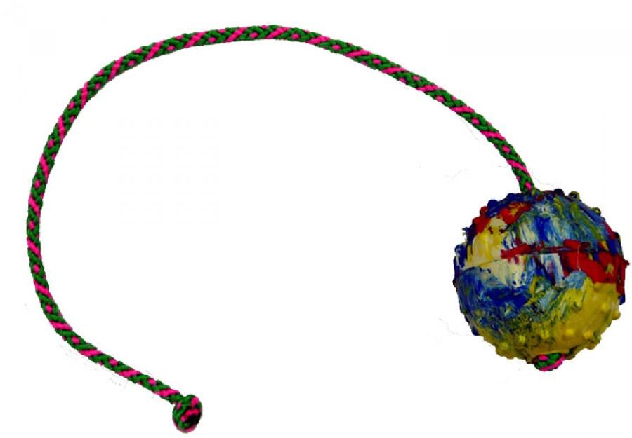 Balónek plný, šňůrka 50 cm, průměr 7 cm