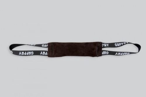 Pešek šitý, kůže, 5 x 25 cm, dvě poutka