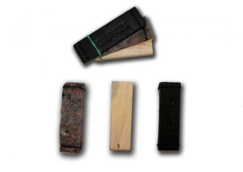 předměty na stopu, sada, kůže, textil, dřevo