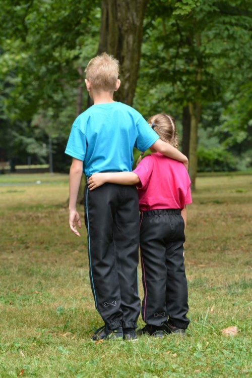 Výcvikové kalhoty pro děti - modré