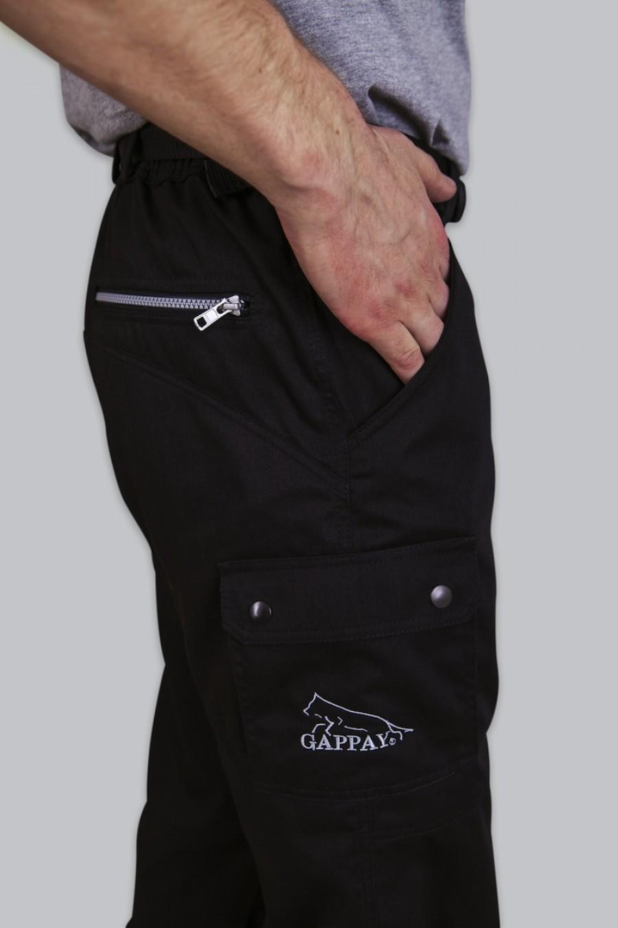 Kalhoty VEERLE - celočerná