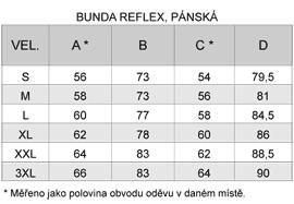 Tabulka velikostí REFLEX pánská